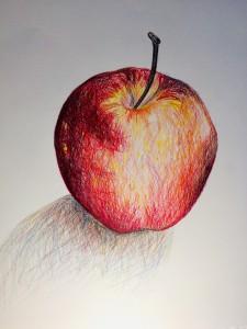Ein Beispiel für Arbeiten mit Buntstift