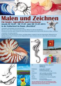 Poster DIN 3 für Malkurse auf Borkum in der Kulturinsel für Web Kopie